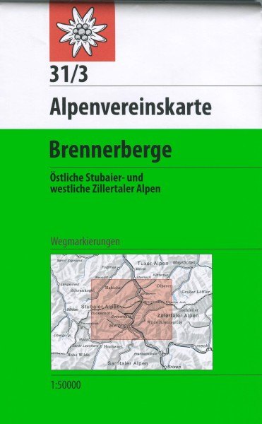 DAV Alpenvereinskarte 31/3 Brennerberge, Wanderkarte 1:50.000