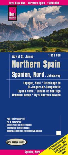 Spanien Nord / Jakobsweg Landkarte 1:350.000, Reise Know-How