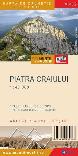 Piatra-Craiului-Gebirge Wanderkarte 1:40.000; MN02