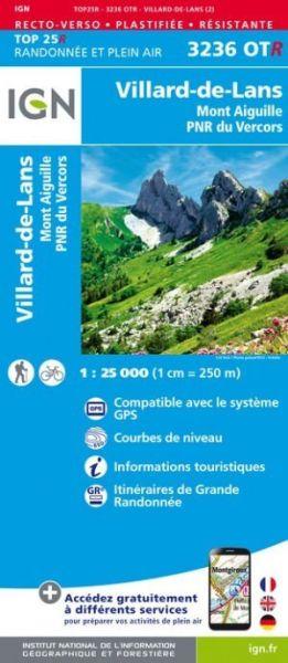 IGN 3236 OTR Villard-de-Lans / Mont Aiguille, reiß- und wasserfeste Wanderkarte