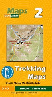 Shatili, Mutso, Mt. Didi Borbalo - Georgien Trekkingkarte 1:50.000 – Geoland 2
