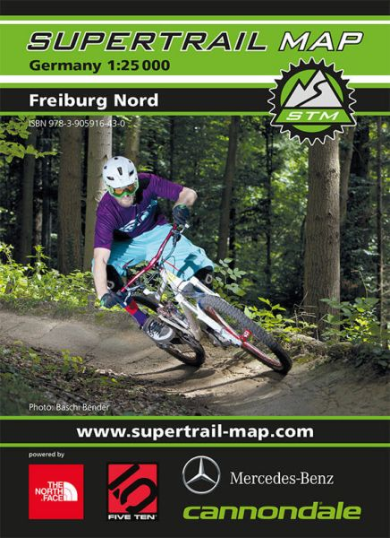 Supertrail Map Freiburg Nord Mountainbike-Karte 1:25.000, wasser- und reissfest (STM)