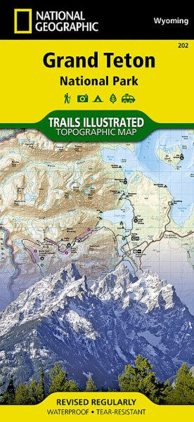 Grand Teton National Park Trail Map (202), National Geographic