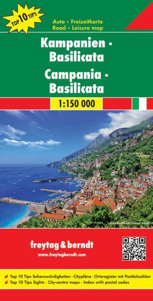 Kampanien - Basilicata Straßenkarte 1:150.000, Freytag und Berndt