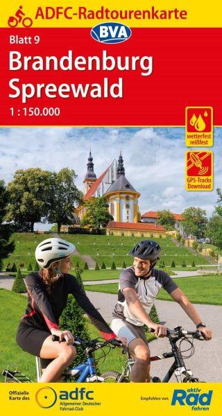 ADFC Radtourenkarte 9, Brandenburg - Spreewald Radwanderkarte 1:150.000
