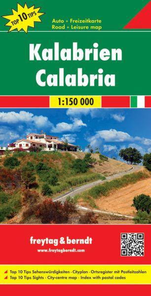 Kalabrien Straßenkarte 1:150.000, Freytag und Berndt
