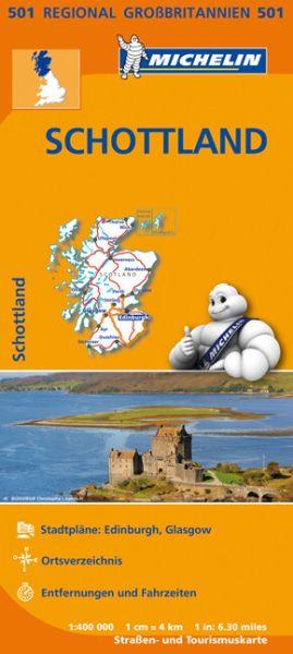 Michelin 501 Schottland Straßenkarte