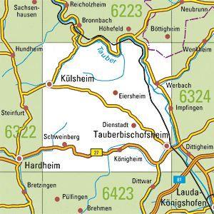 6323 TAUBERBISCHOFSHEIM-WEST, Topographische Karte Baden-Württemberg, TK25; 1:25000