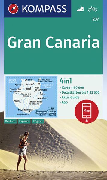 Kompass Karte 237, Gran Canaria 1:50.000, Wandern, Rad