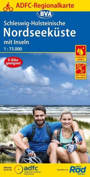 ADFC-Radkarte, Schleswig-Holsteinische Nordseeküste mit Inseln 1:75.000