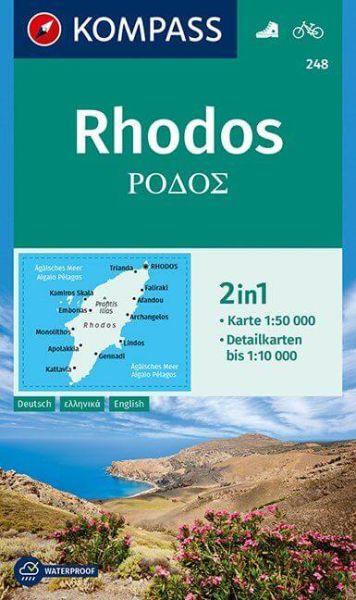 Kompass Karte 248, Rhodos 1:50.000, Wandern, Rad