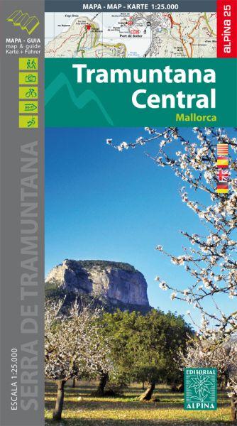 Mallorca: Tramuntana Central Wanderkarte 1:25.000 - Editorial Alpina
