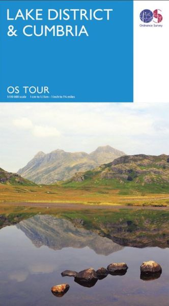 OS Tour Map Lake District & Cumbria Freizeitkarte mit Radrouten 1:110.000