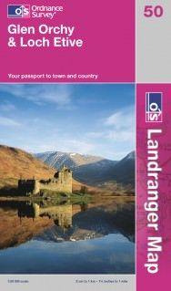 Landranger 50 Glen Orchy & Loch Etive, Großbritannien Wanderkarte 1:50.000