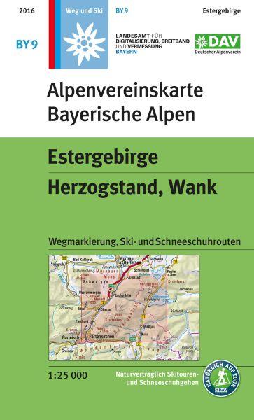 Alpenvereinskarte BY9 Estergebirge Wanderkarte 1:25.000