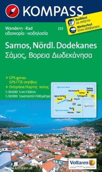 Kompass Karte 253, Samos - nördl. Dodekanes 1:50.000, Wandern, Rad