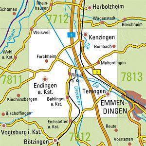 7812 KENZINGEN topographische Karte 1:25.000 Baden-Württemberg, TK25