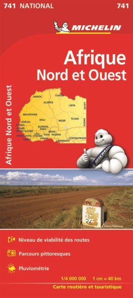 Michelin 741 Nordwest-Afrika, 1:4.000.000