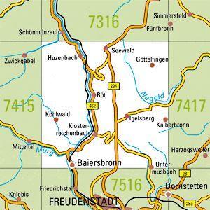 7416 BAIERSBRONN topographische Karte 1:25.000 Baden-Württemberg, TK25