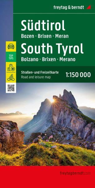 Südtirol - Bozen Landkarte 1:150.000, Freytag und Berndt