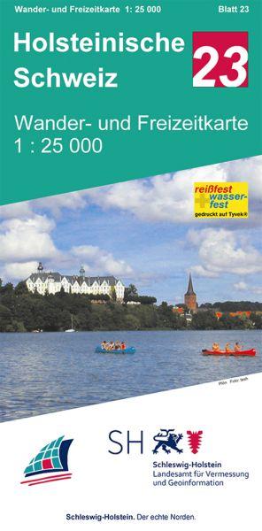 Blatt 23 Holsteinische Schweiz Wander- und Freizeitkarte 1:25.000