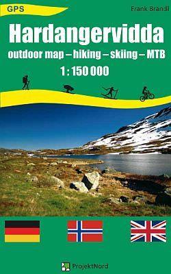 Norwegen: Hardangervidda Trekking und Freizeitkarte 1:150.000, ProjektNord