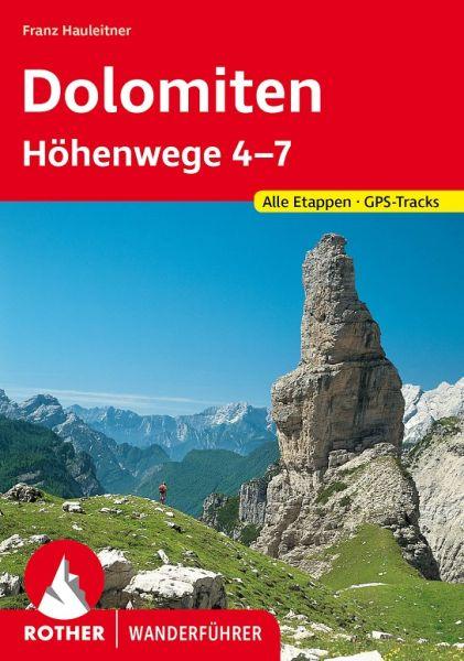 Dolomiten-Höhenwege 4-7 Wanderführer, Rother