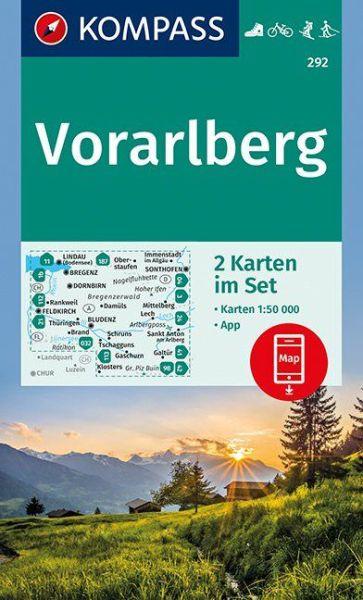 Kompass Karten Set 292, Vorarlberg 1:50.000, Wandern, Rad fahren
