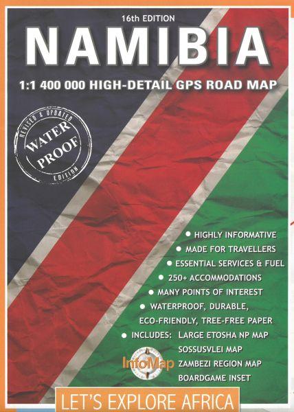Namibia 1:1.400.000 mit touristischen Informationen, InfoMap