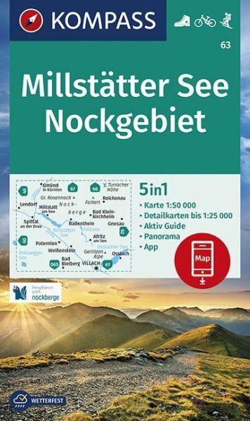 Kompass Karte 63, Millstätter See 1:50.000, Wandern, Rad fahren