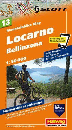 Hallwag Mountainbike Map Bl.13, Locarno, Bellinzona, 1:50.000, Wasser- und reißfest