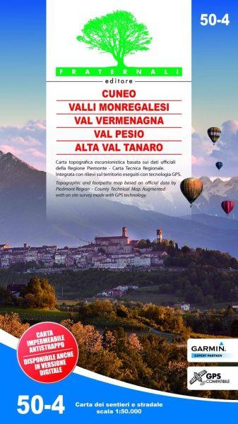 Cuneo, Valli Monregalesi, Val Vermenagna Wanderkarte 1:50.000, Fraternali 50-4