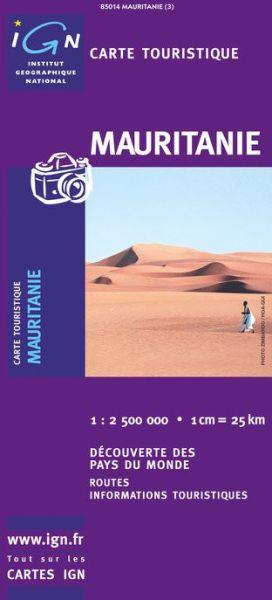 Mauretanien Straßenkarte, 1:2.500.000, IGN