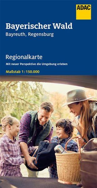 Bl. 13 Bayerischer Wald Regionalkarte 1:150.000, ADAC Straßenkarte