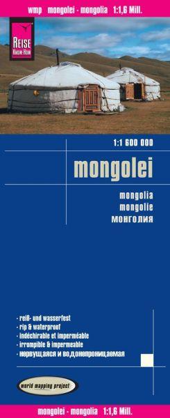 Mongolei Landkarte 1:1.600.000, Reise Know-How