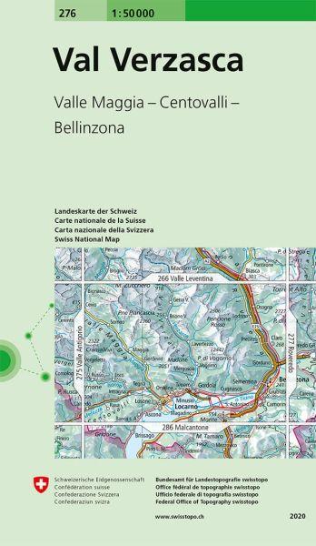 276 Val Verzasca topographische Wanderkarte Schweiz 1:50.000