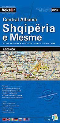 Albanien Zentral Straßenkarte 1:200.000, Vektor 323