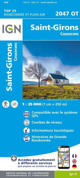 IGN 2047 OT St-Girons / Couserans, Frankreich Wanderkarte 1:25.000