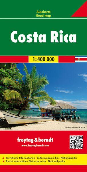 Costa Rica, Straßenkarte 1:400.000, Freytag und Berndt