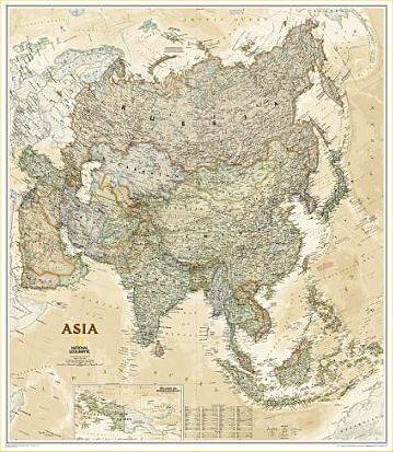 National Geographic Kontinent-Karte Afrika