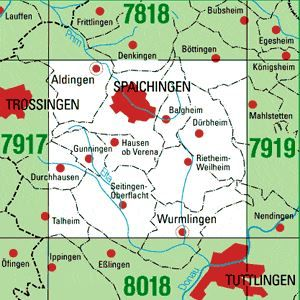 7918 SPAICHINGEN topographische Karte 1:25.000 Baden-Württemberg, TK25
