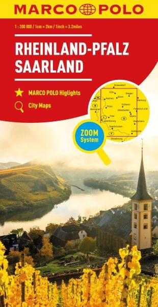 Rheinland-Pfalz Straßenkarte 1:200.000, Marco Polo Bl. 10
