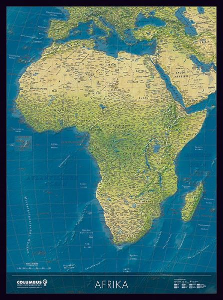 Columbus Kontinentkarte Afrika, physisch / politisch – 115 cm x 85 cm