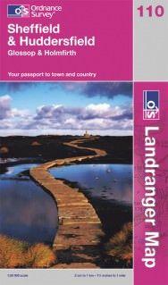 Landranger 110 Sheffield & Huddersfield, Großbritannien Wanderkarte 1:50.000
