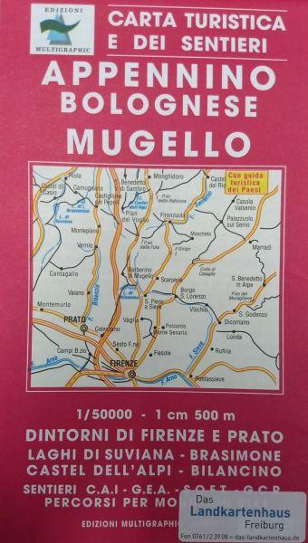 Edition Multigraphic 520, Appennino Bolognese, Mugello Wanderkarte 1:50.000