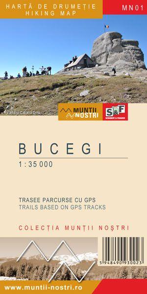 Bucegi-Leaota / Butschetsch-Gebirge Wanderkarte 1:70.000/1:25.000; MN01