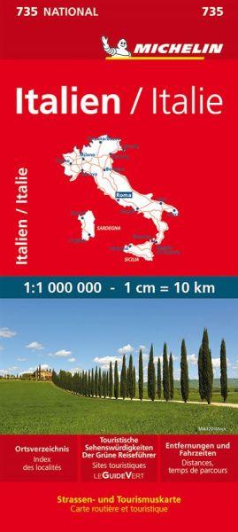 Michelin 735 Italien Straßenkarte, 1:1.000.000