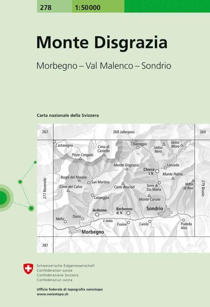278 Monte Disgrazia topographische Wanderkarte Schweiz 1:50.000