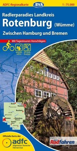 ADFC-Regionalkarte Rotenburg (Wümme) 1:75.000, Radkarte
