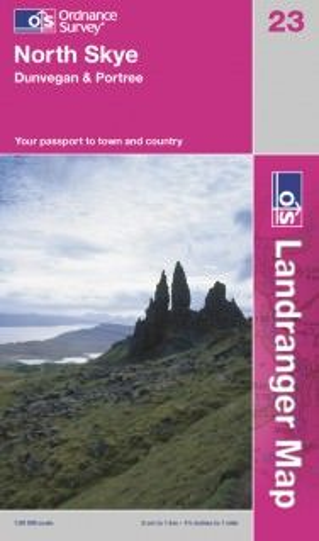 Landranger 23 North Skye, Großbritannien Wanderkarte 1:50.000